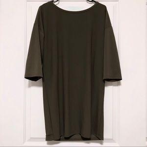 Forest Green Shift Dress Mini